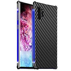 Coque Luxe Aluminum Metal Housse Etui pour Samsung Galaxy Note 10 Plus 5G Bleu