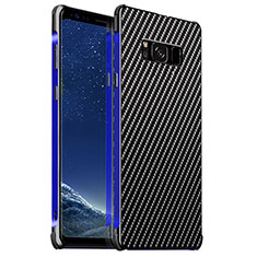 Coque Luxe Aluminum Metal Housse Etui pour Samsung Galaxy S8 Plus Bleu