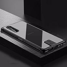 Coque Luxe Aluminum Metal Housse Etui pour Sony Xperia 5 Noir