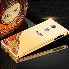 Coque Luxe Aluminum Metal Housse Etui pour Sony Xperia XA2 Ultra Or