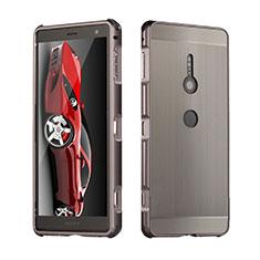 Coque Luxe Aluminum Metal Housse Etui pour Sony Xperia XZ2 Gris