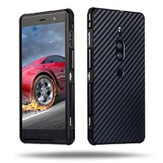 Coque Luxe Aluminum Metal Housse Etui pour Sony Xperia XZ2 Premium Noir