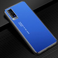 Coque Luxe Aluminum Metal Housse Etui pour Vivo X60 Pro 5G Bleu