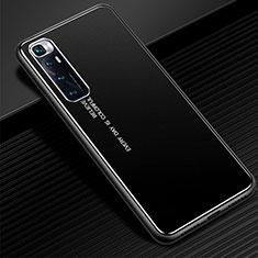 Coque Luxe Aluminum Metal Housse Etui pour Xiaomi Mi 10 Ultra Noir