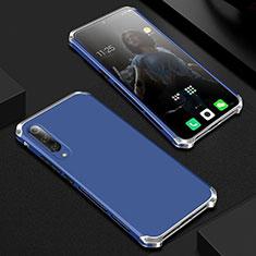 Coque Luxe Aluminum Metal Housse Etui pour Xiaomi Mi A3 Lite Bleu