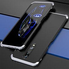 Coque Luxe Aluminum Metal Housse Etui pour Xiaomi Poco X2 Argent et Noir
