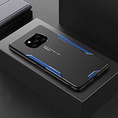 Coque Luxe Aluminum Metal Housse Etui pour Xiaomi Poco X3 NFC Bleu