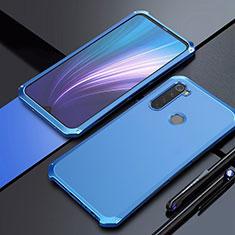 Coque Luxe Aluminum Metal Housse Etui pour Xiaomi Redmi Note 8 Bleu
