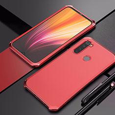 Coque Luxe Aluminum Metal Housse Etui pour Xiaomi Redmi Note 8 Rouge