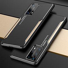 Coque Luxe Aluminum Metal Housse Etui T01 pour Huawei P40 Pro+ Plus Or