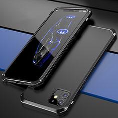 Coque Luxe Aluminum Metal Housse Etui T02 pour Apple iPhone 12 Noir