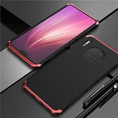 Coque Luxe Aluminum Metal Housse Etui T02 pour Huawei Mate 30 5G Rouge et Noir