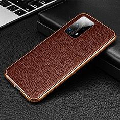 Coque Luxe Aluminum Metal Housse Etui T02 pour Huawei P40 Pro+ Plus Marron