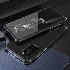 Coque Luxe Aluminum Metal Housse Etui T03 pour Huawei P40 Noir