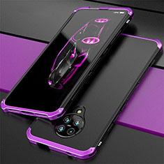 Coque Luxe Aluminum Metal Housse Etui T03 pour Xiaomi Poco F2 Pro Violet