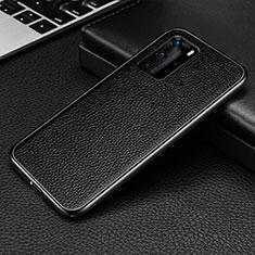 Coque Luxe Aluminum Metal Housse Etui T04 pour Huawei P40 Pro Noir