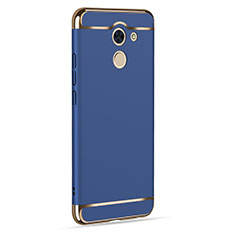 Coque Luxe Aluminum Metal pour Huawei Enjoy 7 Plus Bleu