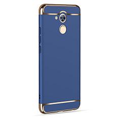 Coque Luxe Aluminum Metal pour Huawei Nova Smart Bleu