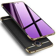 Coque Luxe Aluminum Metal pour Huawei Y7 Prime Noir