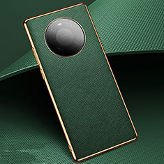 Coque Luxe Cuir Housse Etui K02 pour Huawei Mate 40 Pro Vert