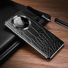 Coque Luxe Cuir Housse Etui K05 pour Huawei Mate 40 Pro Noir