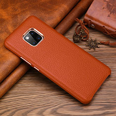 Coque Luxe Cuir Housse Etui L01 pour Huawei Mate 20 RS Marron