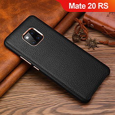 Coque Luxe Cuir Housse Etui L01 pour Huawei Mate 20 RS Noir