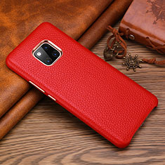 Coque Luxe Cuir Housse Etui L01 pour Huawei Mate 20 RS Rouge