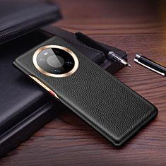 Coque Luxe Cuir Housse Etui L01 pour Huawei Mate 40 Pro Noir