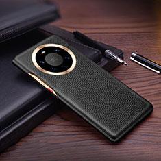 Coque Luxe Cuir Housse Etui L01 pour Huawei Mate 40 Pro+ Plus Noir