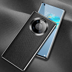 Coque Luxe Cuir Housse Etui L02 pour Huawei Mate 40 Noir