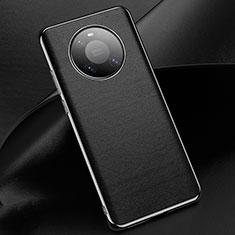Coque Luxe Cuir Housse Etui L02 pour Huawei Mate 40 Pro Noir