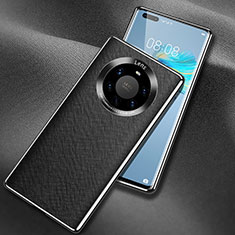 Coque Luxe Cuir Housse Etui L02 pour Huawei Mate 40 Pro+ Plus Noir