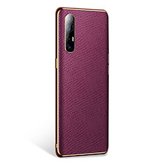 Coque Luxe Cuir Housse Etui L02 pour Oppo Find X2 Neo Violet