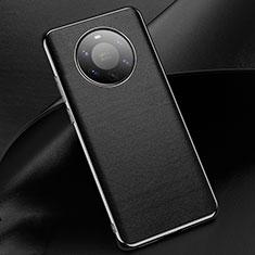 Coque Luxe Cuir Housse Etui L03 pour Huawei Mate 40 Pro+ Plus Noir
