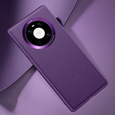 Coque Luxe Cuir Housse Etui L03 pour Huawei Mate 40 Violet