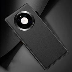Coque Luxe Cuir Housse Etui L04 pour Huawei Mate 40 Pro Noir