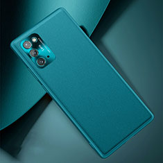 Coque Luxe Cuir Housse Etui N01 pour Samsung Galaxy Note 20 5G Cyan