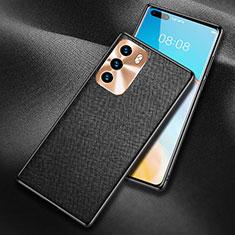 Coque Luxe Cuir Housse Etui N03 pour Huawei P40 Noir