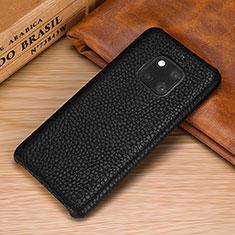 Coque Luxe Cuir Housse Etui P01 pour Huawei Mate 20 Pro Noir