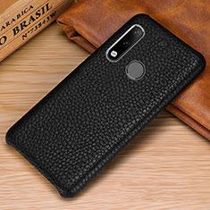 Coque Luxe Cuir Housse Etui P01 pour Huawei P30 Lite Noir