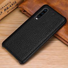 Coque Luxe Cuir Housse Etui P01 pour Huawei P30 Noir