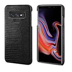 Coque Luxe Cuir Housse Etui P02 pour Samsung Galaxy Note 9 Noir