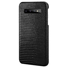 Coque Luxe Cuir Housse Etui P02 pour Samsung Galaxy S10 Noir