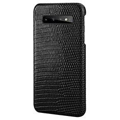 Coque Luxe Cuir Housse Etui P02 pour Samsung Galaxy S10 Plus Noir