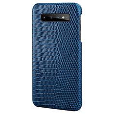 Coque Luxe Cuir Housse Etui P02 pour Samsung Galaxy S10e Bleu