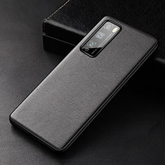 Coque Luxe Cuir Housse Etui pour Huawei Enjoy Z 5G Noir