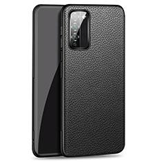 Coque Luxe Cuir Housse Etui pour Huawei Honor 30 Lite 5G Noir