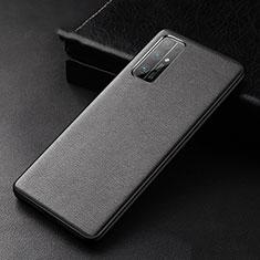 Coque Luxe Cuir Housse Etui pour Huawei Honor 30 Noir
