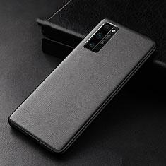 Coque Luxe Cuir Housse Etui pour Huawei Honor 30 Pro Noir